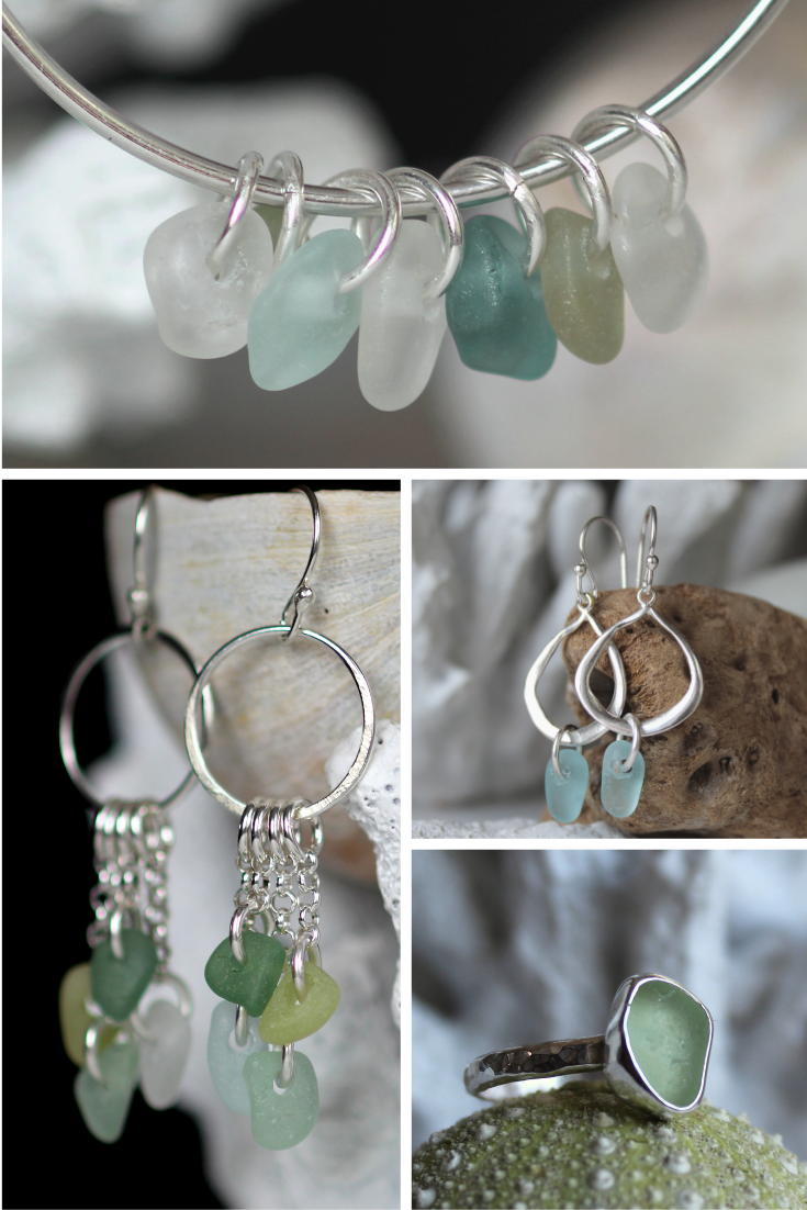 sea glass jewelry by Sea Glass Designs
