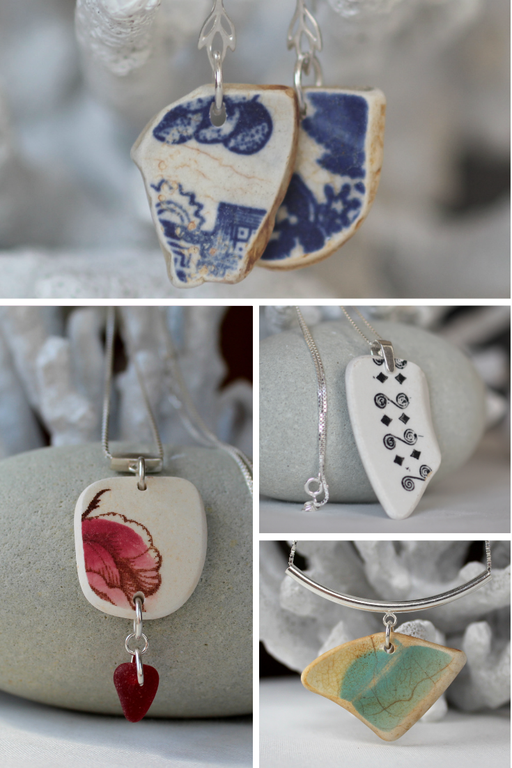 Sea Pottery Jewelry by Sea Glass Designs