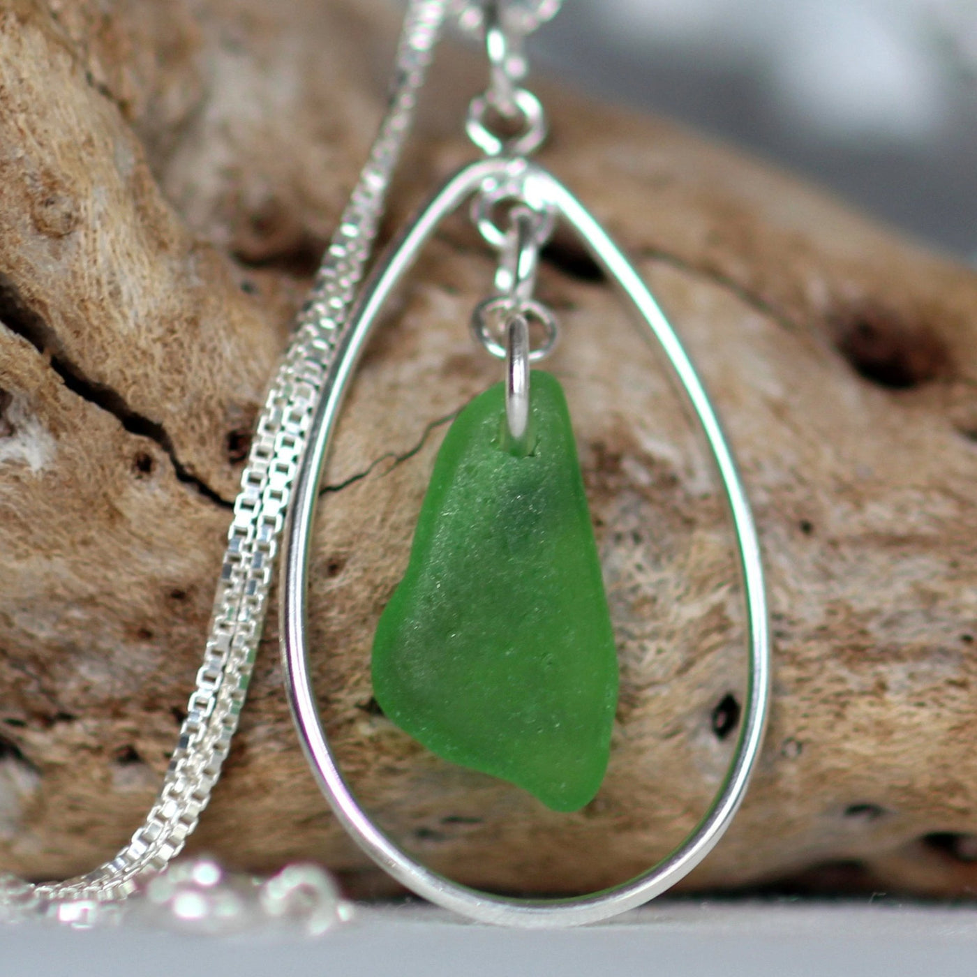Sea glass necklace, mom gift, kelly green necklace, nova scotia, sea glass pendant, halifax, mermaid tears, sea glass jewelry canada,