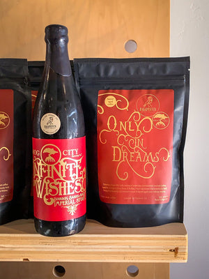 Smog City Brewing, Infinite Wishes Bourbon Barrel-Aged Stout with Ragamuffin Coffee Roasters Only in Dreams Barrel-Aged Coffee