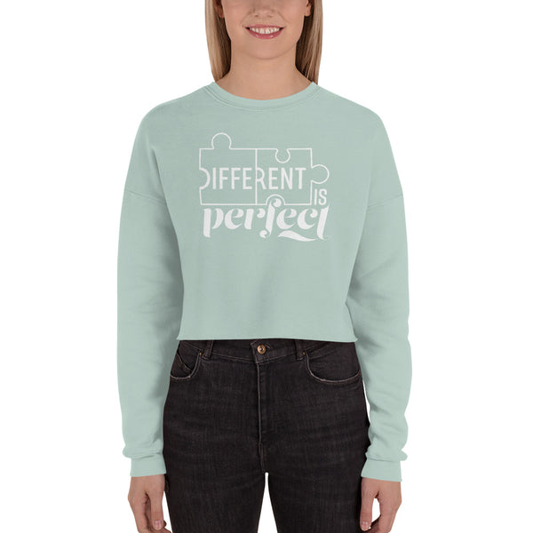 Different is Perfect Cropped Sweatshirt