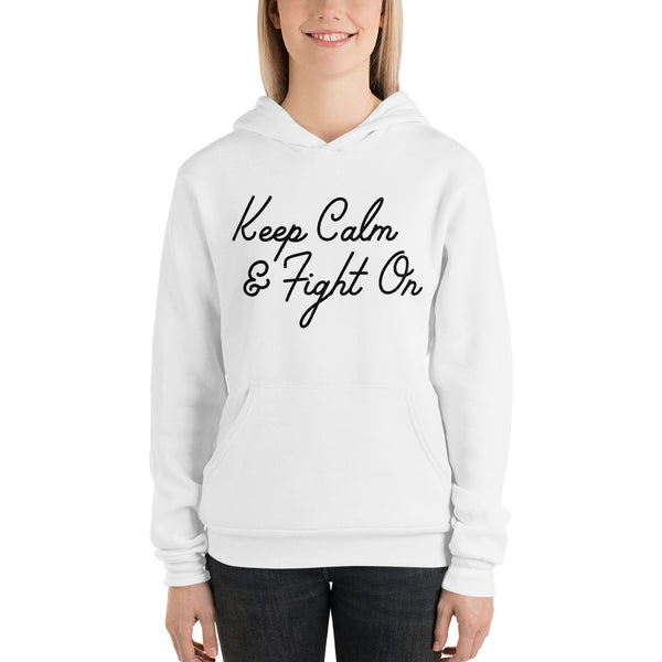 Keep Calm and Fight On Plus Size Hoodie