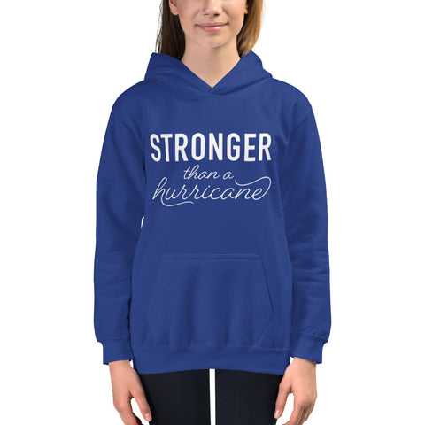 Stronger Than a Hurricane Youth Hoodie