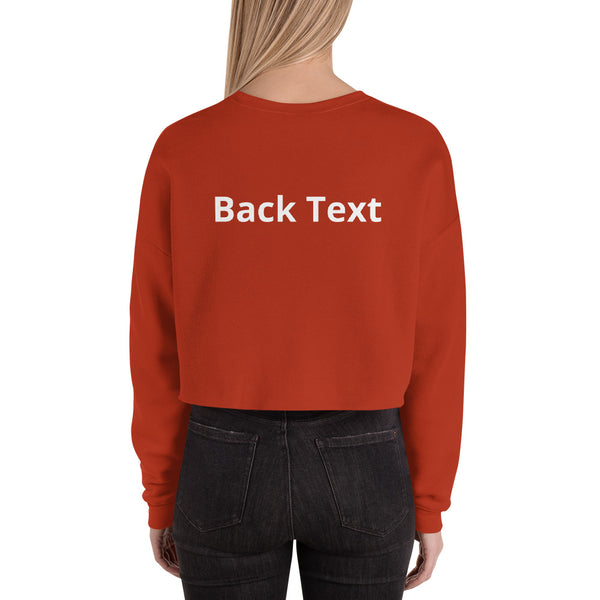 Custom Cropped Sweatshirt