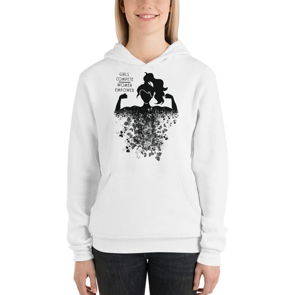 Girls Compete, Women Empower Hoodie