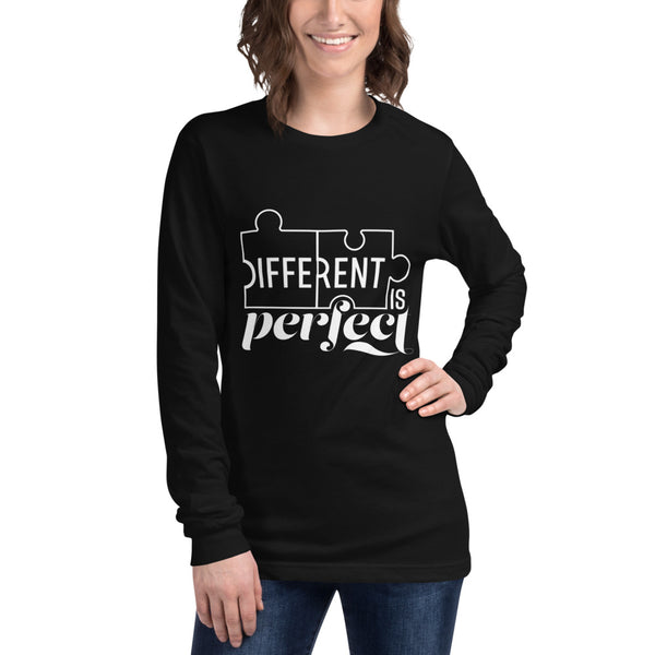 Different is Perfect Plus Size Long Sleeve Tee