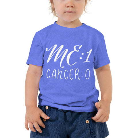 Me: 1 Cancer: 0 Toddler T-Shirt