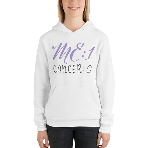 Me: 1 Cancer: 0 Plus Size Hoodie