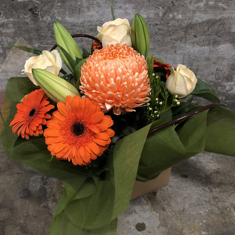 Gerbera and Rose Bouquet