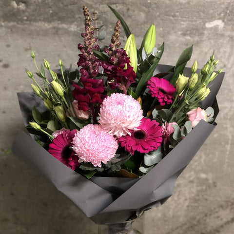 Disbud and Gerbera Bouquet