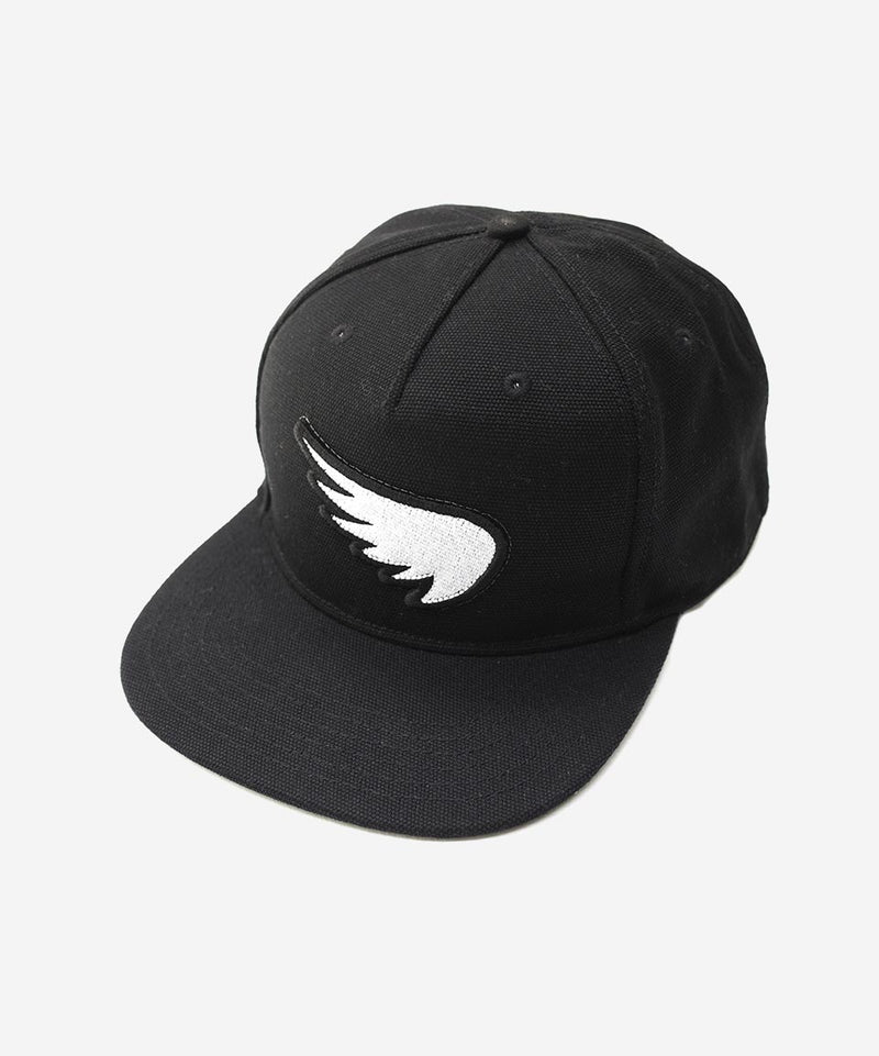 SA1NT 3D Embroidered Wing Patch Snapback - Black