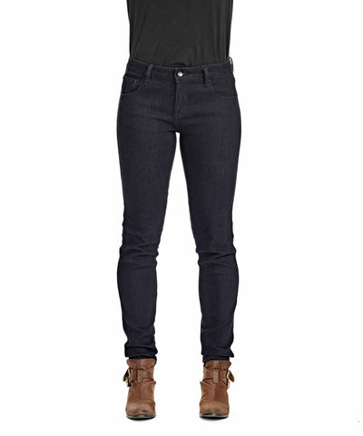 Women's Mid Rise Stretch Jeans - Dark Indigo