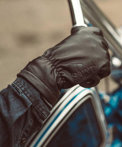 Leather Gloves with Spectra Lining - Black