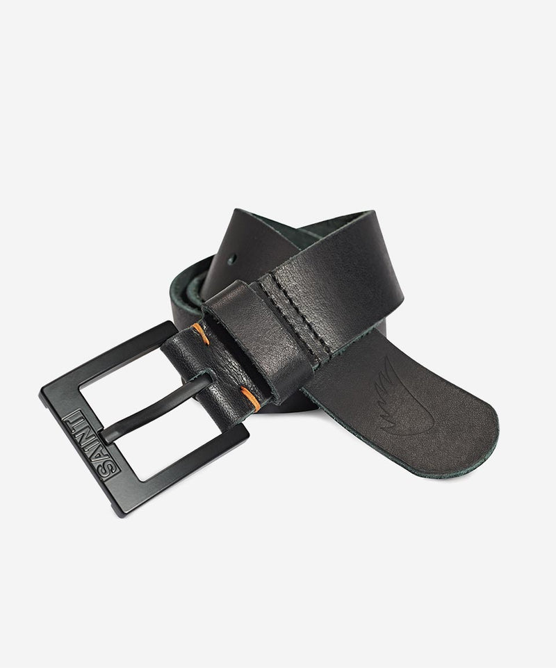SA1NT Leather Belt - Matte Black