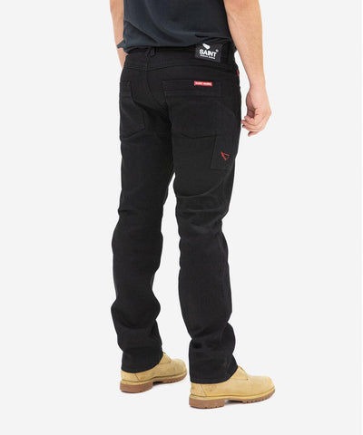 Straight Fit Jeans - Black