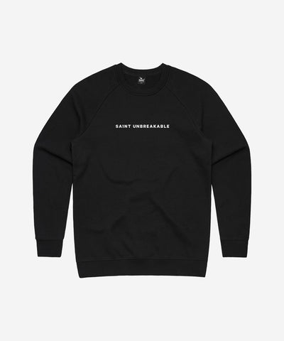 SA1NT Unbreakable Minimalistic Crew Neck Jumper - Black