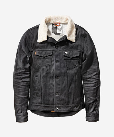 Unbreakable Denim Shearling Collar Jacket