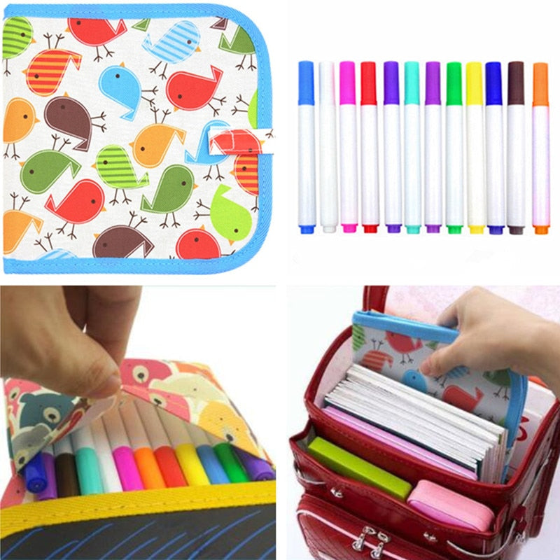 Reusable Travel Drawing Coloring Cloth Notebook For Kids Learnfun