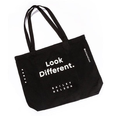 Look Different Tote Bag in Black