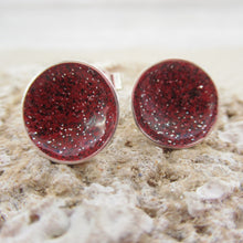 Load image into Gallery viewer, Red galaxy earrings