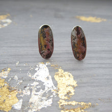 Load image into Gallery viewer, Thin black and gold earrings
