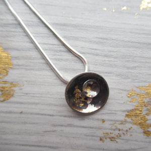 Black and Gold small pendant with dome