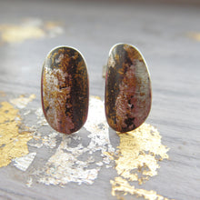 Load image into Gallery viewer, Oval Curve Earrings