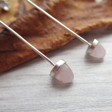 Load image into Gallery viewer, rose quartz acorn earrings