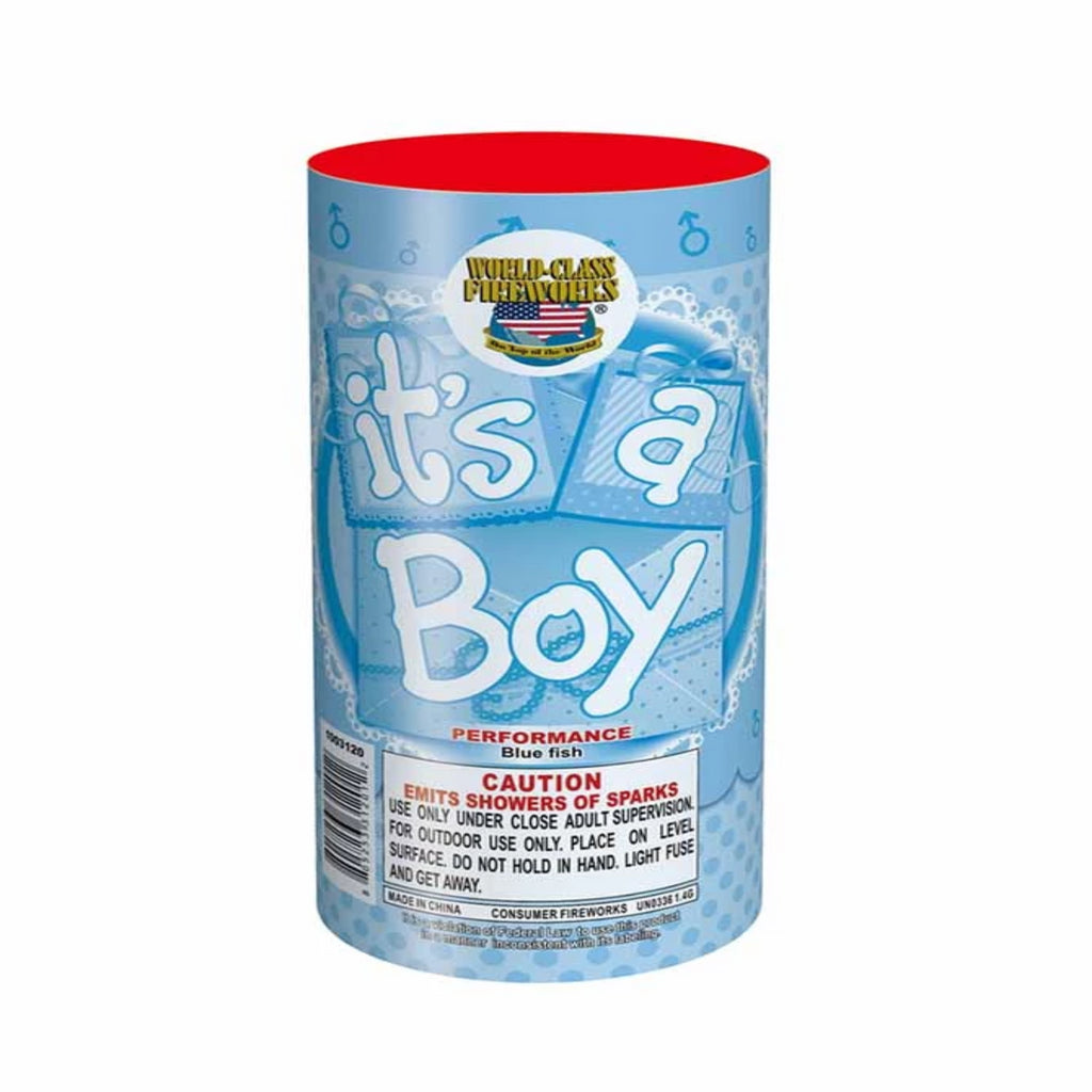 It's a boy fountain firework - Utah Sparklers