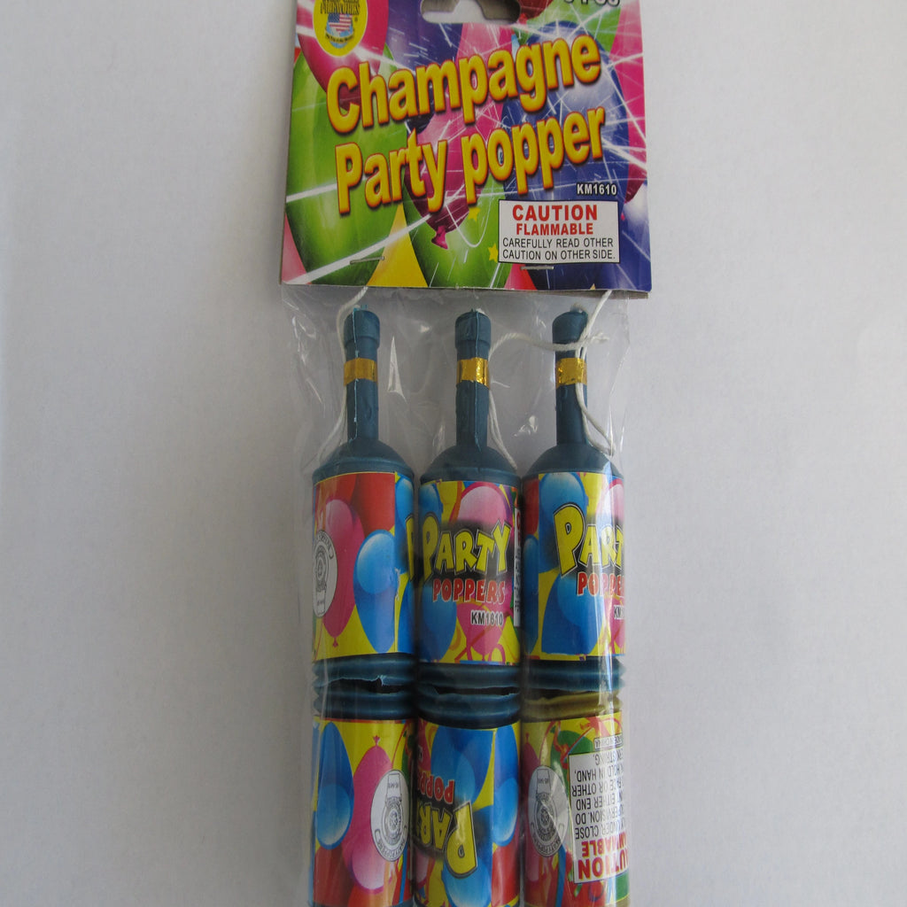 Champagne Party Poppers - Utah Sparklers
