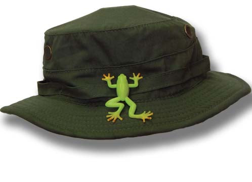 Bucket Hat with Snap-On Frog - Park Ranger Green