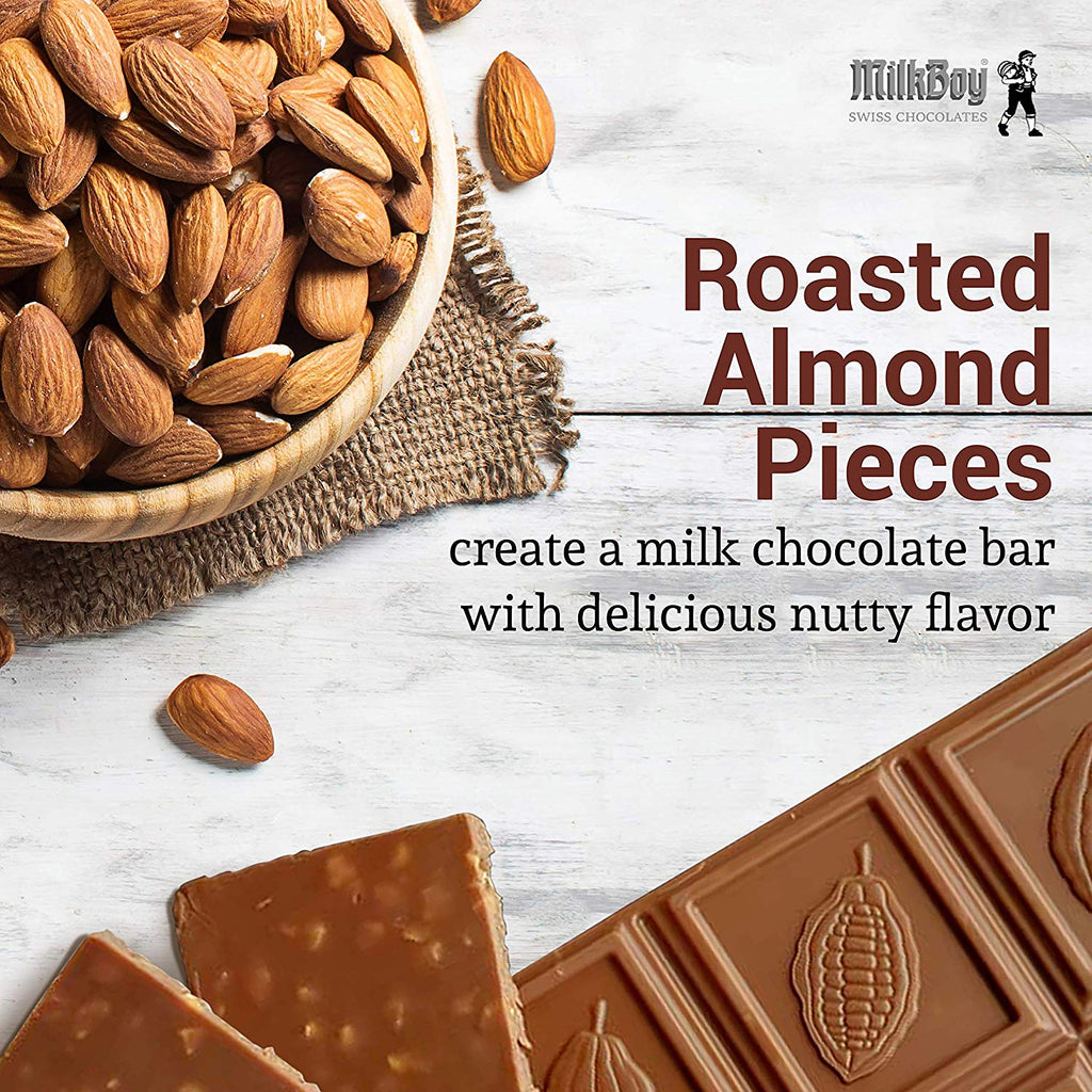 Milkboy Finest Swiss Chocolate Alpine Milk with Roasted Almonds