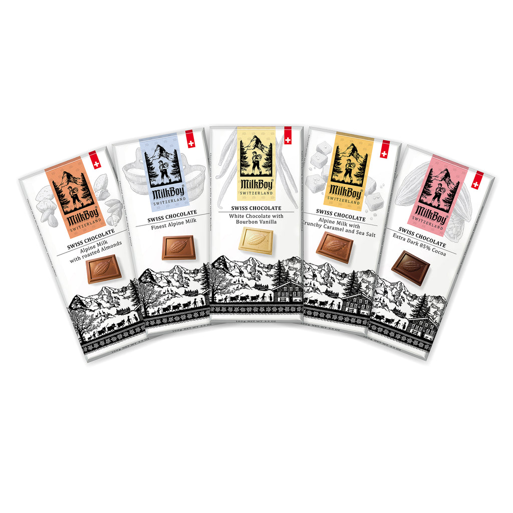 Milkboy Finest Swiss Chocolate Variety Pack - Top 5 bars