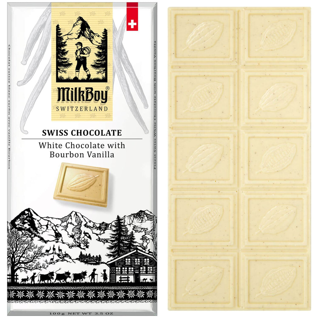Milkboy Finest Swiss White Chocolate with Bourbon Vanilla