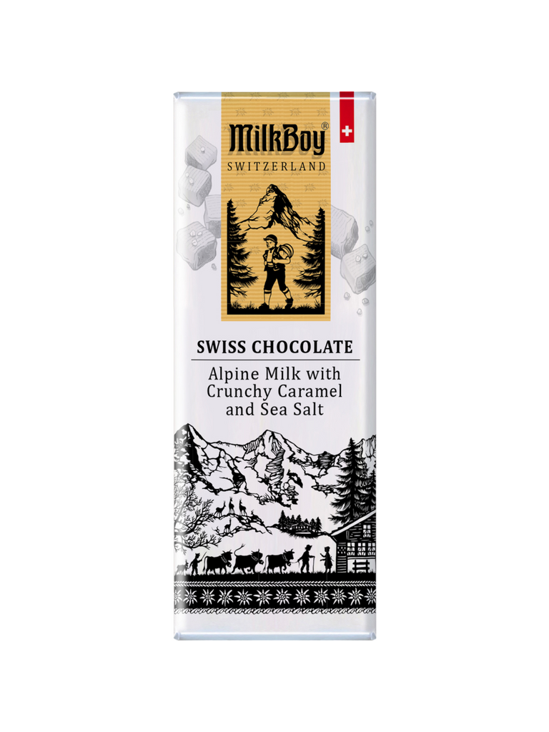 Swiss Alpine Milk Chocolate with Caramel & Sea Salt Snack Size Bar