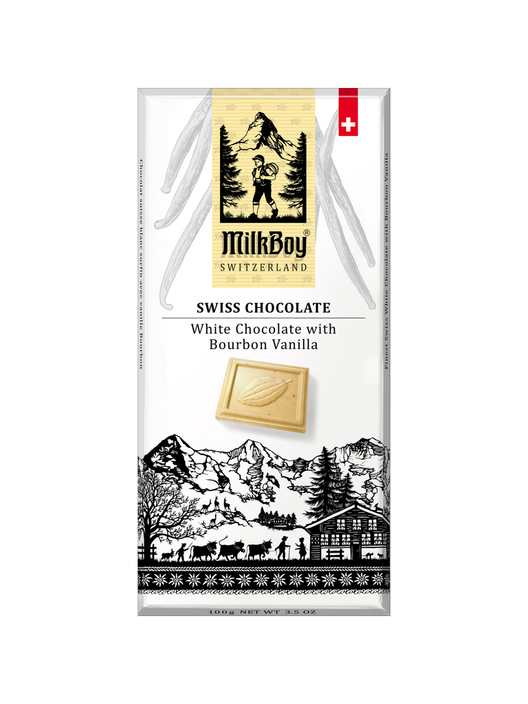 Finest Swiss White Chocolate with Bourbon Vanilla