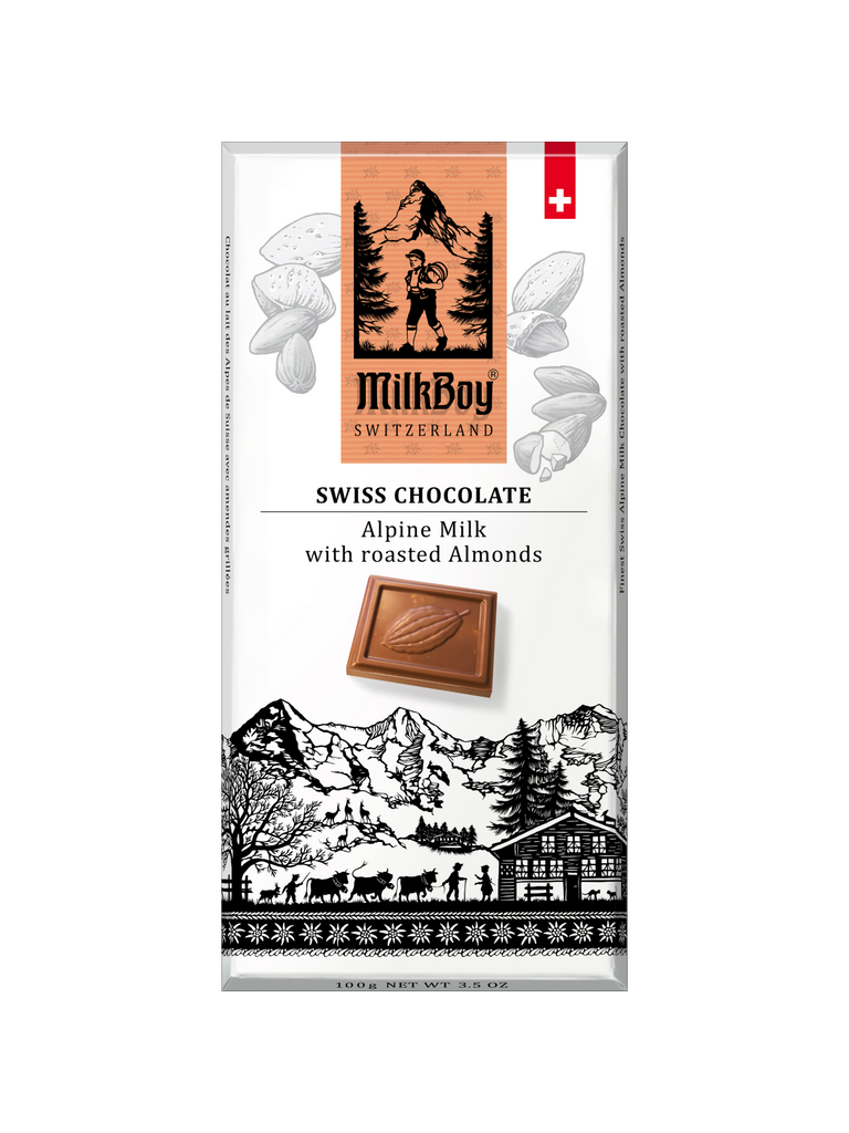 Finest Swiss Alpine Milk with roasted Almonds