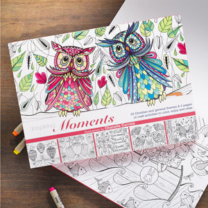 Coloring Book: Inspiring Moments, Owls by Chanelle Correia