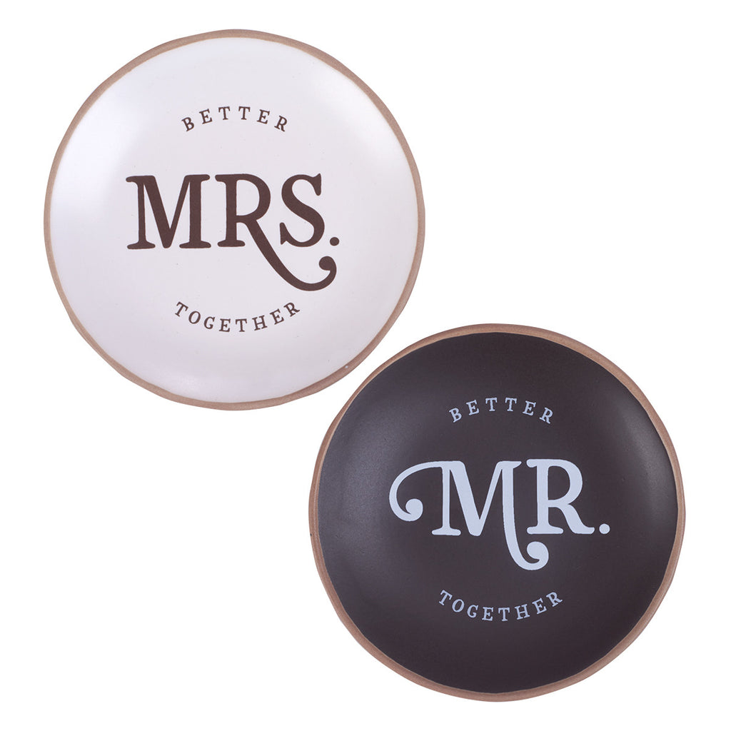 Better Together - Mr. & Mrs. Trinket and Jewelry Tray Set