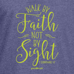 grace & truth Women's Hooded T-Shirt Walk By Faith
