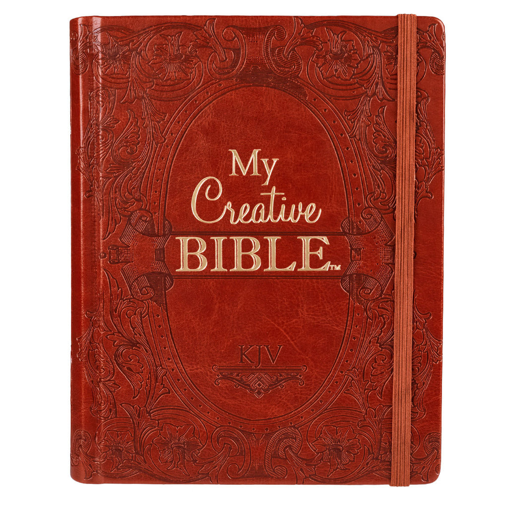 KJV My Creative Journaling Bible in Brown, Hardcover