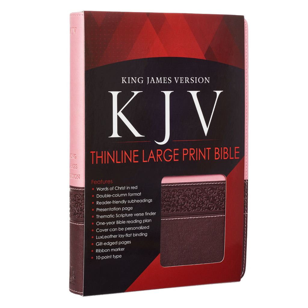 Brown and Pink KJV Bible Large Print