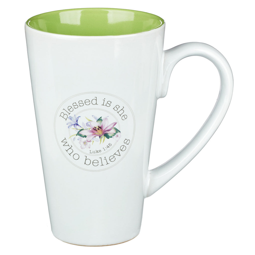 Blessing From Above Luke 1:45 Coffee Mug