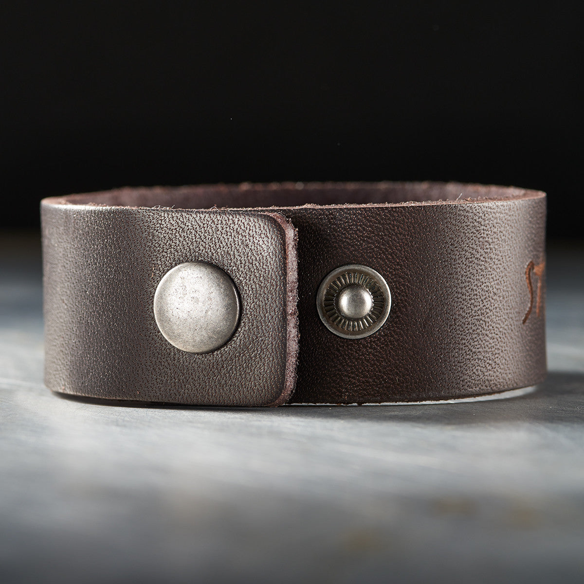 Leather Wristband: Strong and Courageous in Brown