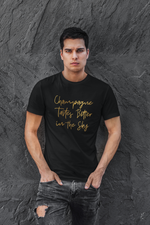 Load image into Gallery viewer, Champagne Tastes Better in the Sky - Gold Edition T-Shirt