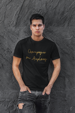 Load image into Gallery viewer, Champagne on Airplanes - Gold Edition T-Shirt