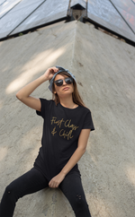Load image into Gallery viewer, First Class & Chill - Gold Edition T-Shirt
