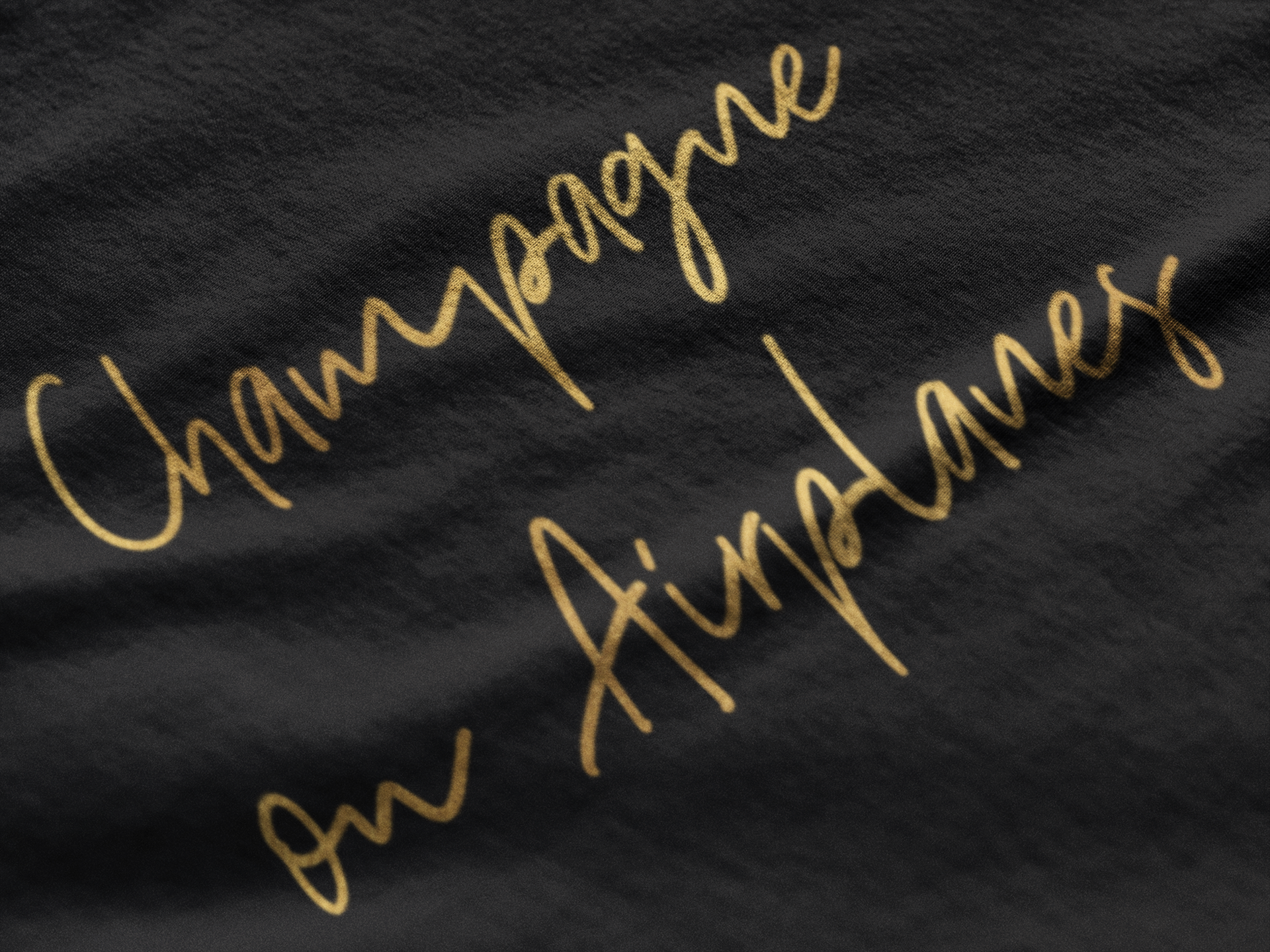 Champagne on Airplanes - Gold Edition T-Shirt