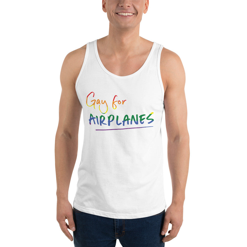 Gay for Airplanes Tank Top (Pride 2020)