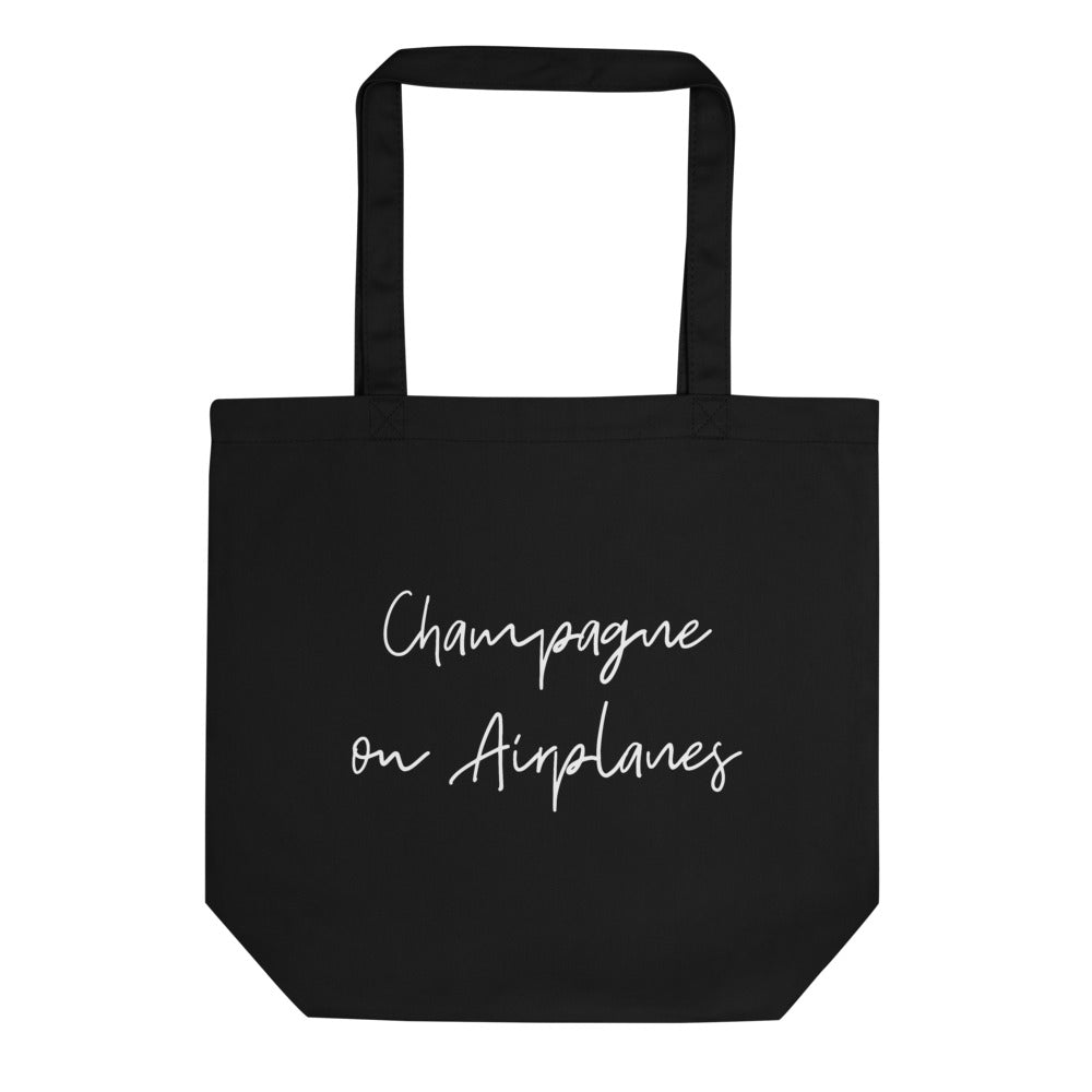 Champagne on Airplanes Tote Bag